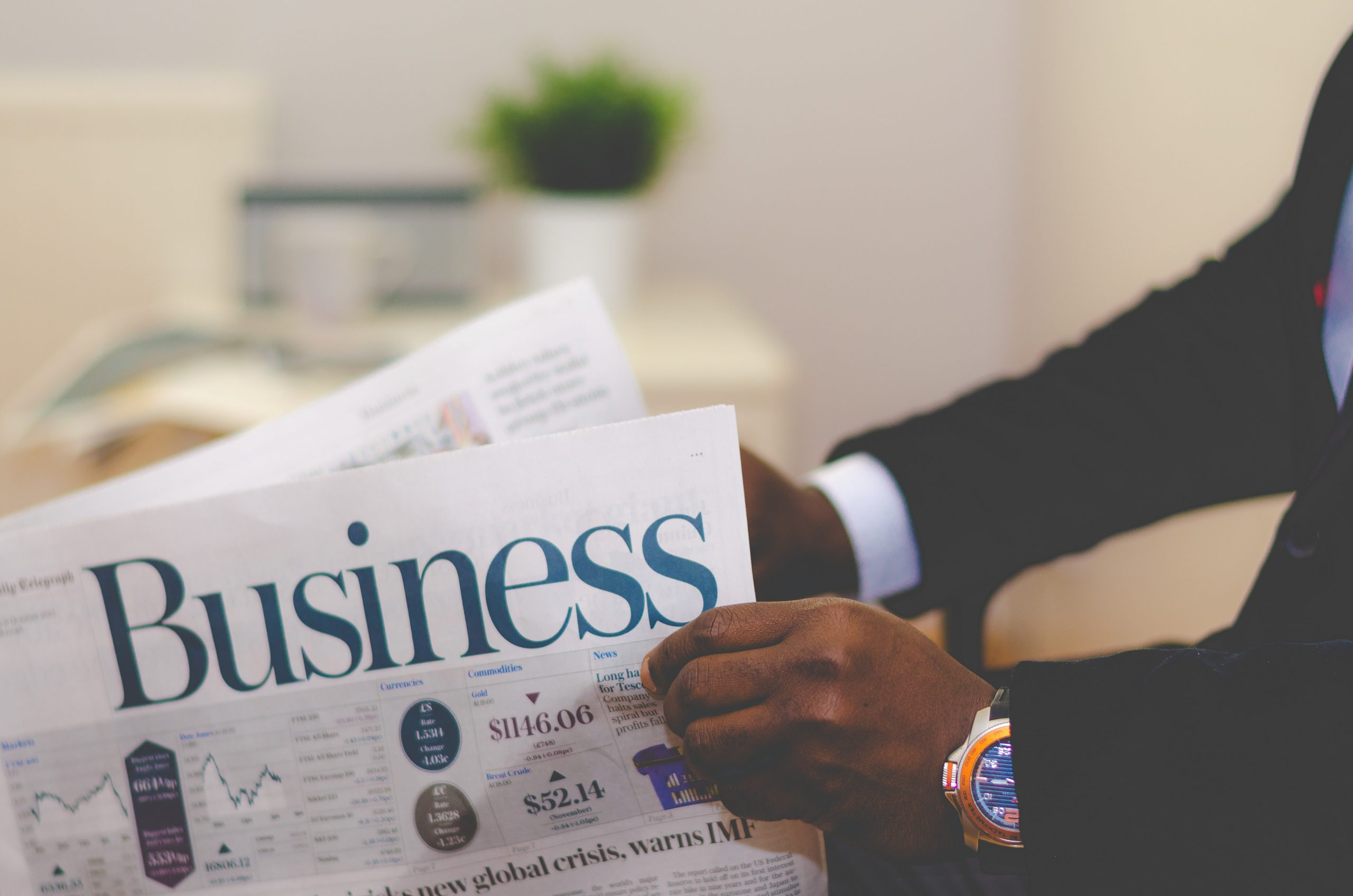 reading business section